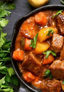Sherried Bison Stew Recipe