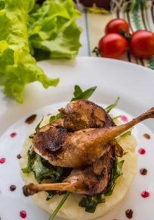 Roasted Quail with Brandy