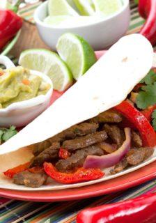 Bison Steak Fajitas Recipe