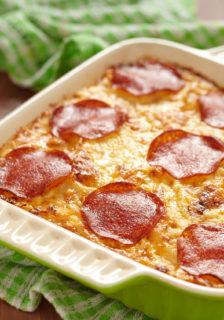 Bison Summer Sausage Cheesy Potato Casserole